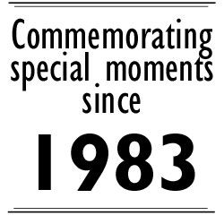 Commemorating special moments since 1983